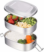 Nobuddy 2 Tier Stainless Steel Lunch Box,Bento Box