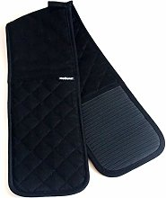 NoBurn Oven Gloves, Cotton, Black, one size