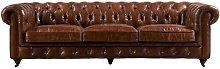 Noel Leather 4 Seater Chesterfield Sofa Williston