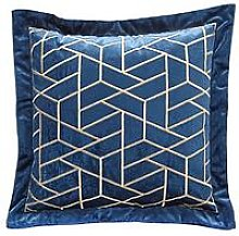 Noir Nights Embroidered Cushion