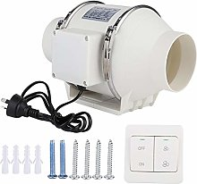 Noiseless Inline Duct Fan Air Extractor, 4In High