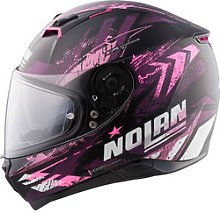 Nolan N87 Carnival n-com Full-Face Helmet purple XS