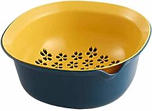 Nologo 2 in 1 Kitchen Strainer/Colander Bowl Set,