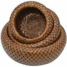 Nologo Boutique Bamboo Fruit Basket Hand-Woven