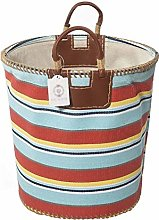 Nologo Laundry Basket with Leather Handle