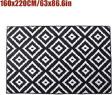 Non-slip Area Rug Floor mat Black hall runner 160