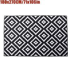 Non-slip Area Rug Floor mat Black hall runner 180