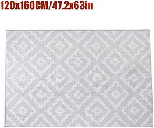 Non-slip Area Rug Floor mat Gray room runner 120 *