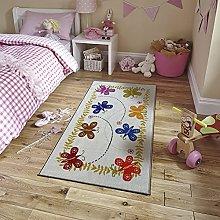 Non Slip Area Rug Polyester Carpet Educational for