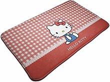 Non Slip Backing Doormat Hello Kitty Indoor Carpet