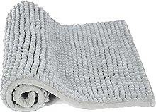 Non-Slip Bath Mat, Chenille Soft Microfibers