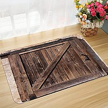 Non-slip bath mat floor mat 45 x 75 cm Rustic,Aged