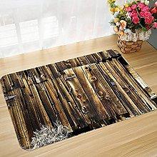 Non-slip bath mat floor mat 45 x 75 cm Rustic,Oak