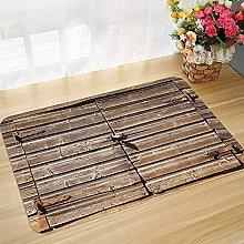 Non-slip bath mat floor mat 45 x 75 cm Rustic,Old