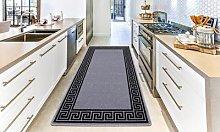 Non-Slip Door Entrance Mat: 80cm x 150cm/Brown -