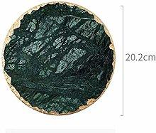 Non-Slip Emerald Marble Coaster Mug Place mat