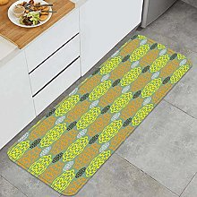 Non Slip Kitchen Mat Japanese textile design with