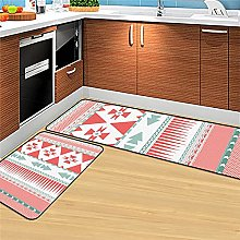 Non Slip Kitchen Mats - 2 Pcs Runner Carpet Nordic