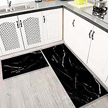 Non Slip Kitchen Mats - 2 Pcs Runner Carpet Simple