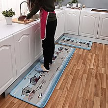 Non Slip Kitchen Mats - 2 Pieces Washable Runner
