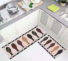 Non Slip Kitchen Mats - 2Pcs Runner Carpet Set