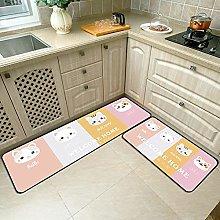 Non Slip Kitchen Mats - Runner Carpet Set Of 2