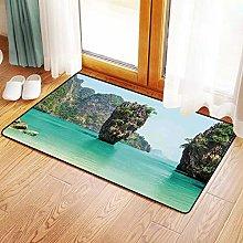 Non-Slip Mat Microfiber Bathroom Rug Shower Mat,