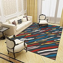 Non Slip Rugs Kitchen Mats Red Blue Simple Striped