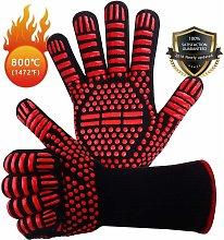 Non-slip Silicone BBQ Gloves EN407 for Barbecue,