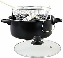Non Stick Chip Frying Pan Set Deep Fat Fryer