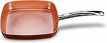 Non-Stick Copper Square Frying Pan Skillet with