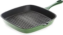 Non Stick Enamel Cast Iron Square Grill Pan, from