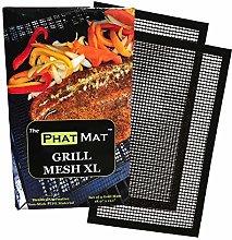 Non Stick Grill Mesh Mats (2 pcs) - Heavy Duty BBQ