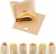 Non-Stick Reusable Toaster Bags (Set of 12),Heat