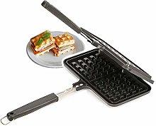 Non-Stick Waffle Maker CHAWHO Cast Aluminum Waffle