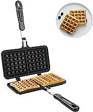 Non-Stick Waffle Maker, Stove Top Waffle Iron Dual