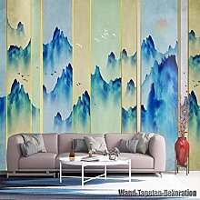 Non-woven photo wallpaper, murals, blue ink,