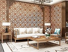 Non-Woven Wallpaper,Flocking New Chinese Window