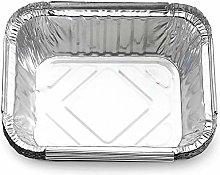 nonbrand 50 Pack Square Aluminum Foil Drip Pans,