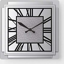 None Brand Art Deco brushed silver Square Wall