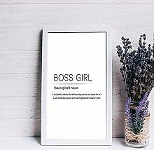 None Brand Boss Girl Wall Print Boss Girl wood