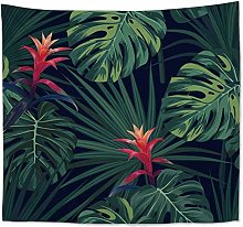 None Brand Cilected Tropical Plant Tapestry Wall