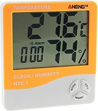 None brand Digital Thermometer Hygrometer Lcd Dual