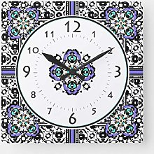 None Brand Elegant Purple and Teal Moroccan Floral
