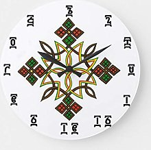 None Brand Ethiopian Cross Time Round Large Wall