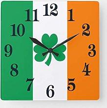 None Brand Flag of Ireland Shamrock Square Wall