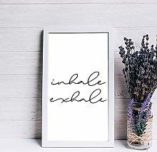 None Brand Framed-Sign Print Calming Wall Art