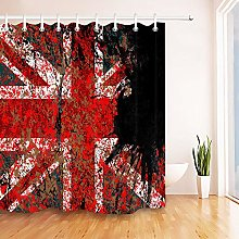 None brand Funny British Flag Graffiti Shower