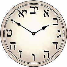 None Brand Hebrew clock large wall clock Round
