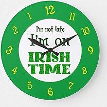 None Brand Irish Time Backwards Numbers Clock